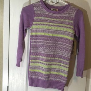 Route 66 pull over sweater purple graphic silver